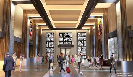 Lobby Del Disney S Hotel New York The Art Of Marvel