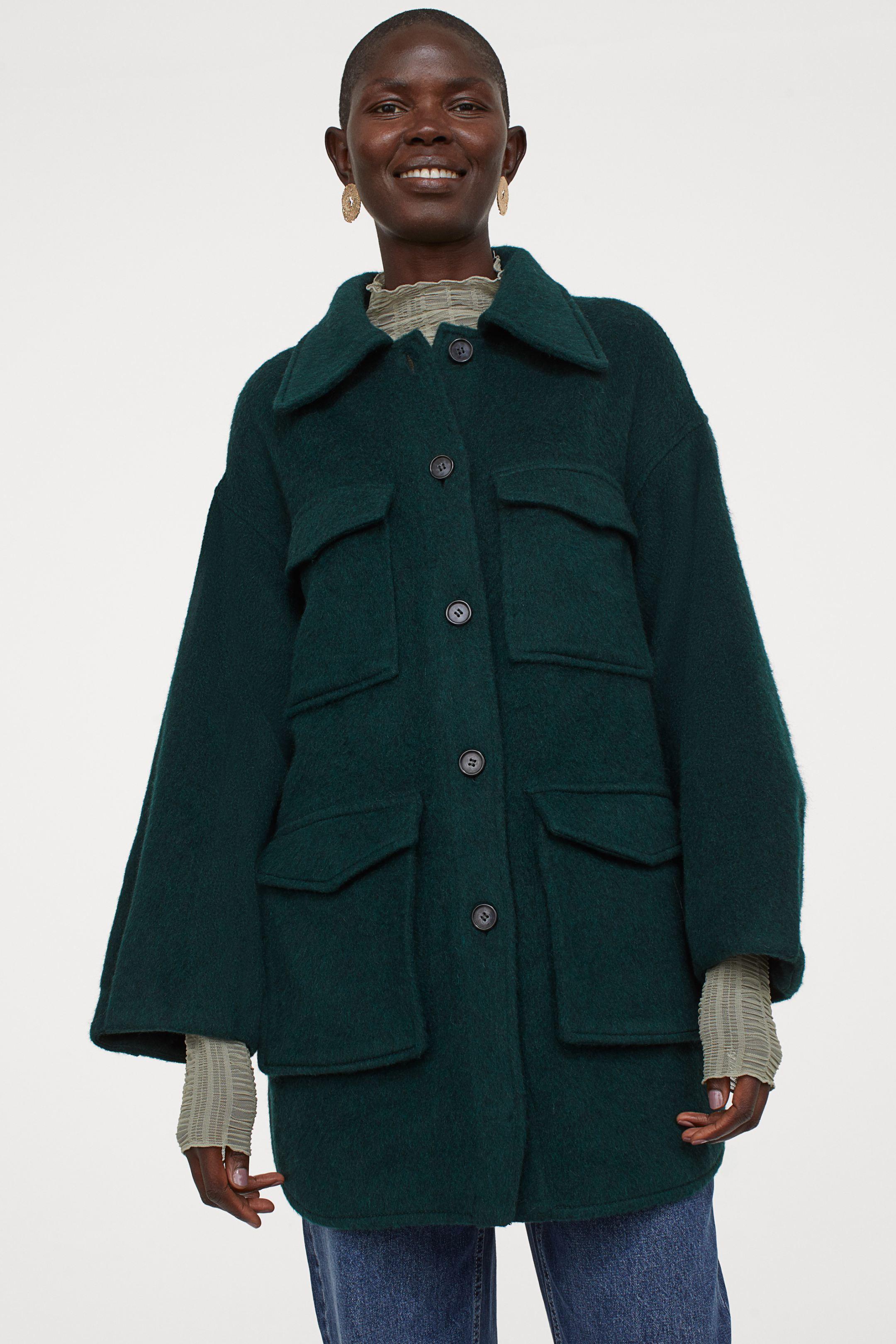 Chaqueta de lana con bolsillos