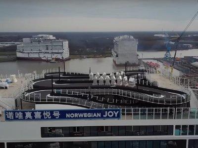 Norwegian Joy, el crucero en el que podrás pilotar karts en la cubierta (¿con salvavidas?)