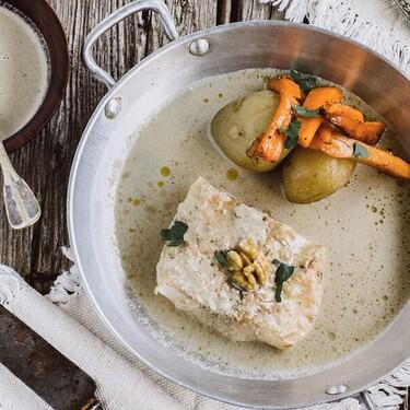 Filetes de Huachinango en salsa de nuez. Receta fácil y saludable