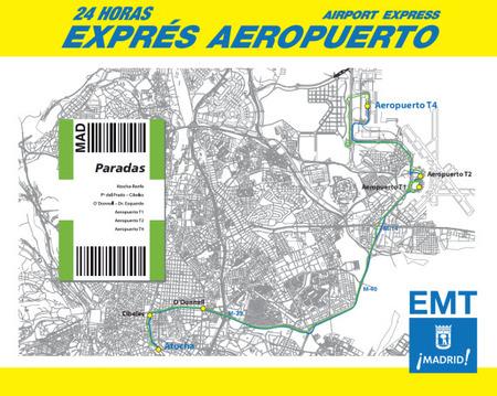 autobuses amarillos a Barajas