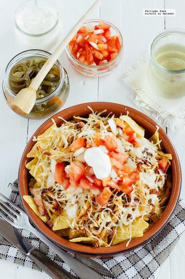 Nachos con pollo y tocino: receta para el aperitivo