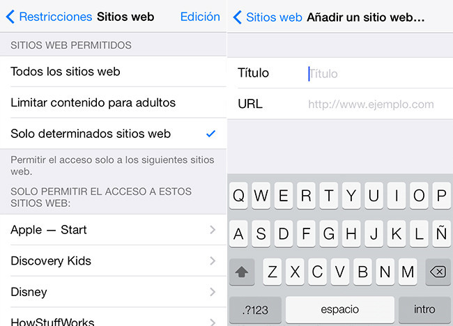 Control Parental en iOS