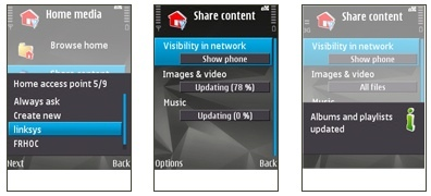 Nokia N95 8 GB como servidor DLNA