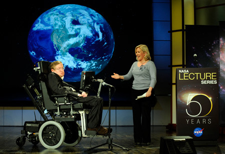 Stephen Hawking And Lucy Hawking Nasa 2008