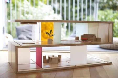 Mesa de centro y casa de muñecas, dos en uno