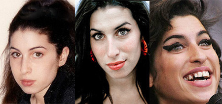Looks impactantes: el antes y después de Amy Winehouse