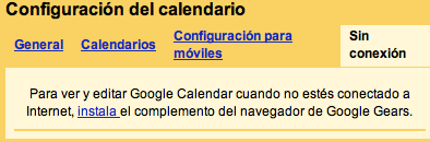 Google Calendar offline en breve