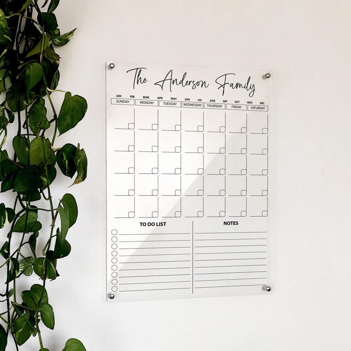 Planificador mensual acrílico