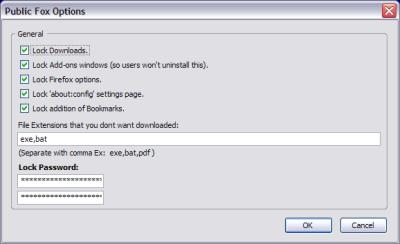 Public Fox, para proteger la configuración de Firefox