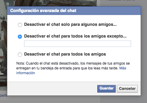 Facebook Ocultar Chat