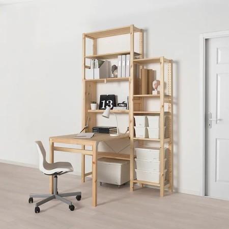 Ivar Storage Unit With Foldable Table 0909816 Pe652151 S5