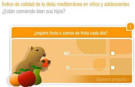 Evalúa online la dieta mediterránea de tus niños