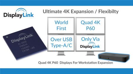 Tener hasta cuatro monitores con señal 4K por medio de USB es lo nuevo de DisplayLink