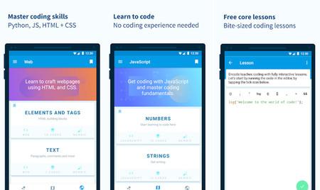 Capturas de la app Encode