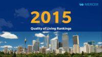 Las 50 ciudades con mejor calidad de vida, 2015