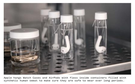 """El asqueroso pero necesario """"baño"""" en sudor sintético para probar la resistencia del Apple Watch y los AirPods [Actualizado con video]"""