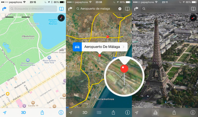 Mapas en iOS 7 beta 3