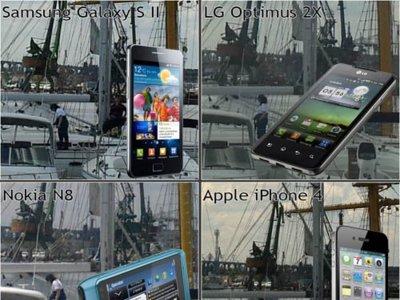 Las cámaras del Samsung Galaxy S2, Nokia N8, iPhone 4 y LG Optimus 2X frente a frente