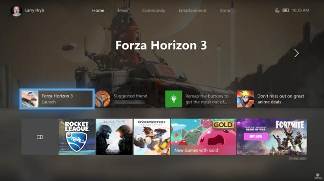 Fall Creators Update está cada vez más cerca y la Xbox One se beneficiará con un remozado menú mucho más funcional