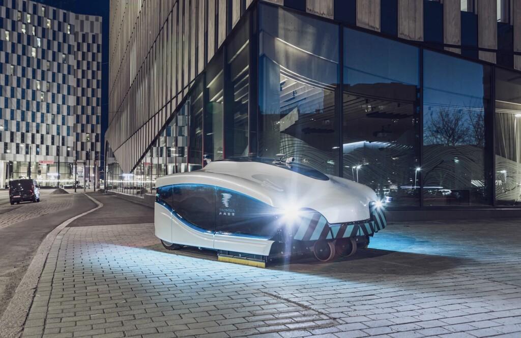 La Roomba para ciudades se llama Trombia: tiene el tamaño de un coche y limpia las calles de forma autónoma