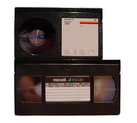 Cintas de vídeo Beta y VHS
