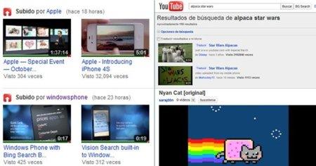 Mira la puntuación de los vídeos y haz búsquedas en YouTube sin abandonar el vídeo actual