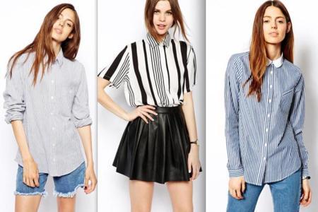 camisa de rayas tendencia