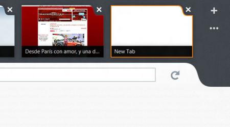 Controles de pestañas en Firefox para Windows 8
