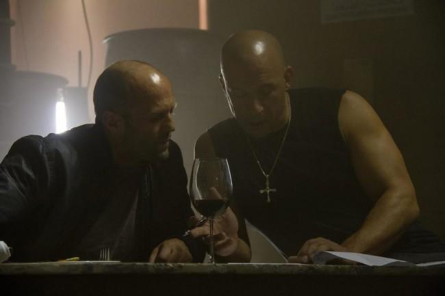 Jason Statham y Vin Diesel en el rodaje de Furious 7
