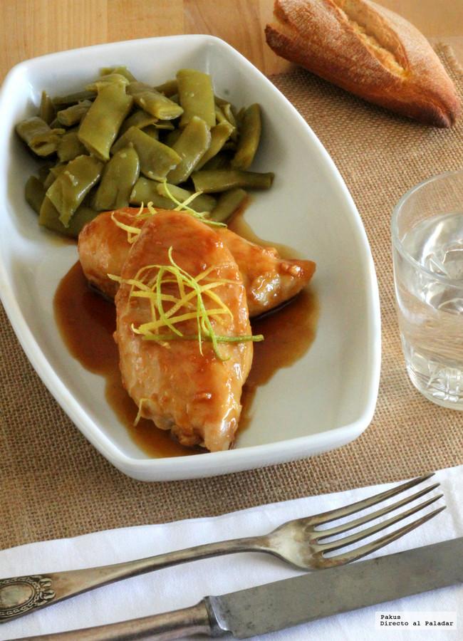 Pechugas de pollo glaseadas con miel y limón. Receta fácil y rápida ...
