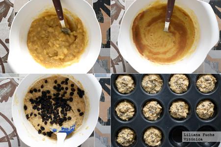 Muffins Fitness de Plátano. Pasos