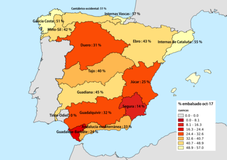 Porcentaje De Agua Embalsado A Mediados De Octubre De 2017 Por Cuencas Hidrograficas