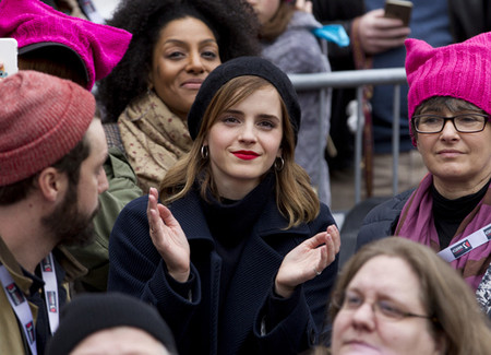 Emma Watson En La Marcha Del 8 De Marzo En Washington