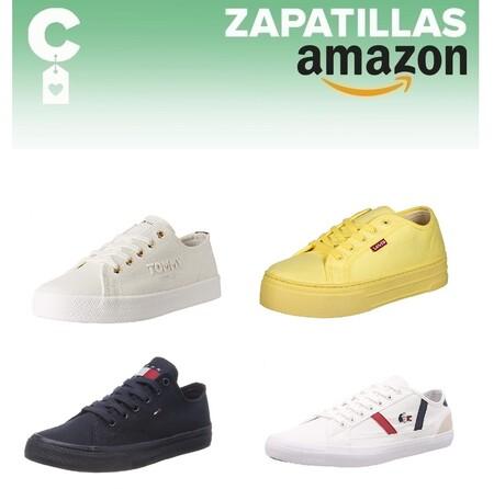 Chollos en tallas sueltas de zapatillas Levi's, Tommy Hilfiger o Lacoste en Amazon