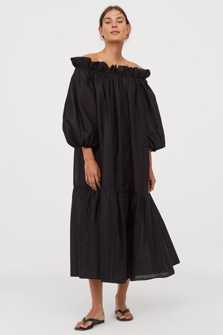Vestido Escote Bardot Low Cost 09