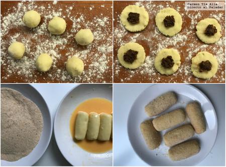 Paso A Paso Croquetas De Patata Rellenas De Morcilla Y Cebolla Confitada