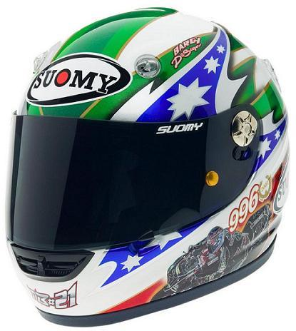 Suomy lanza un casco en honor a los tres títulos de Troy Bayliss
