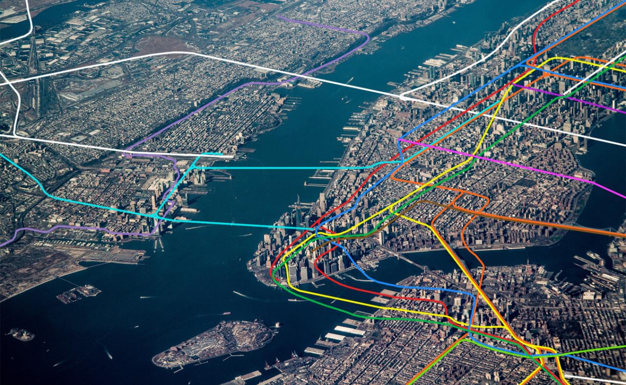 ¿Por dónde van las líneas de metro? Las ilustraciones que explican su recorrido desde el aire