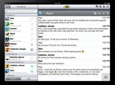 Aparecen capturas y conceptos de más aplicaciones para el iPad