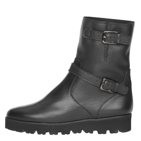 Charlize Commando Sole Buckle Boot Black Side