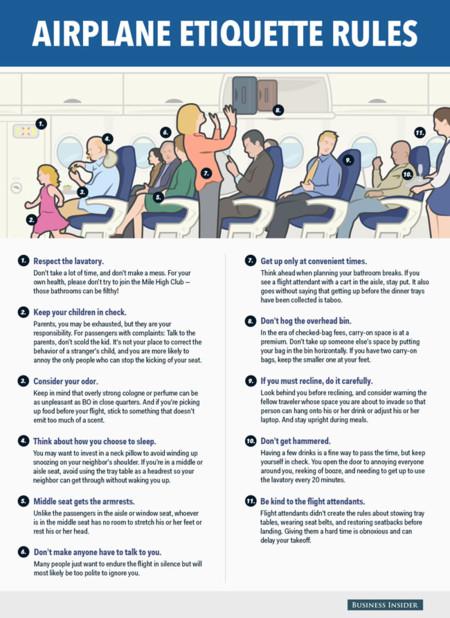 Reglas De Etiqueta Avion