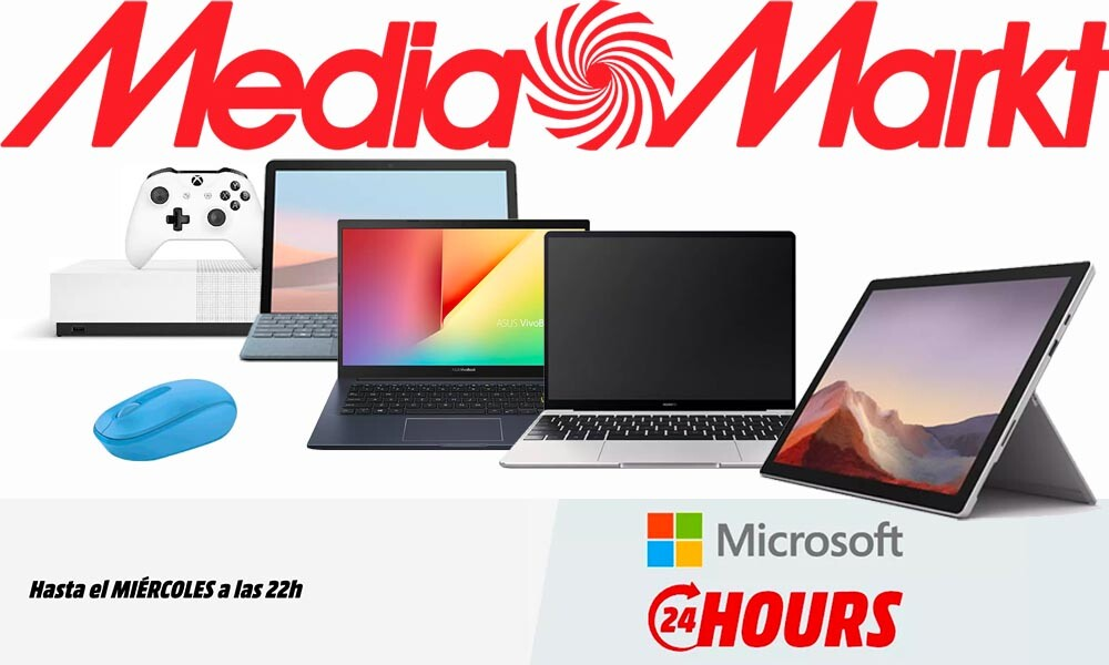 Microsoft Hours en MediaMarkt: portátiles, tablets, consolas o ratones a precios rebajados... si te das prisa