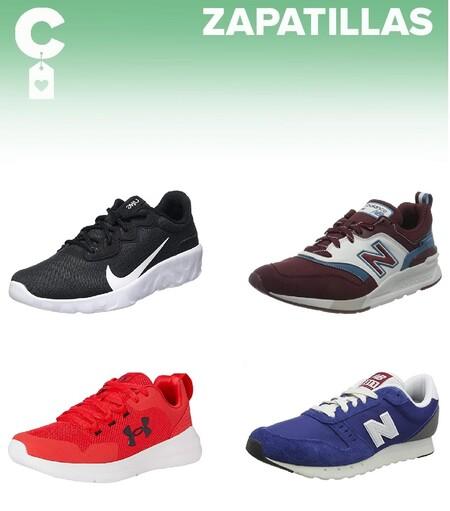 Chollos en tallas sueltas de  zapatillas Nike, New Balance o Under Armour por menos de 35 euros en Amazon