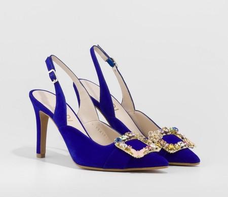 Zapato De Salon Raga Azul Zapatos Mujer Online