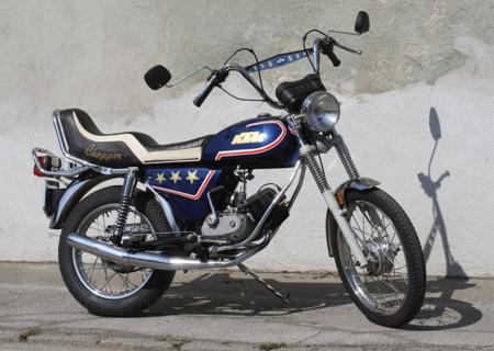 Y esto fue lo que se le ocurrió hacer a KTM para el segmento de las chopper allá por 1980