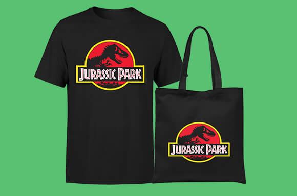 Camiseta y bolsa de 'Parque jurásico