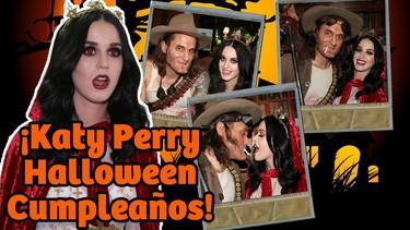 Katy Perry saca los colmillos junto a John Mayer en su fiesta de cumpleaños