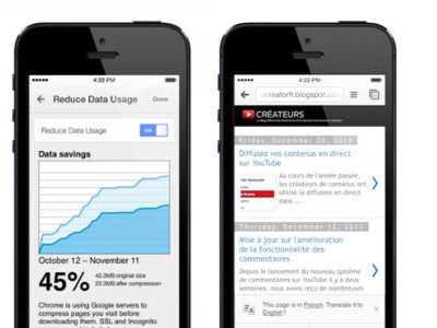 Chrome para iOS nos trae un nuevo modo para ahorrar ancho de banda y Google Translate