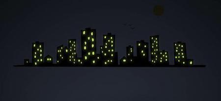 Ciudad que brilla en la oscuridad